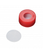 WHEATON® µL MicroLiter® 11 mm Snap Cap With Septa, PTFE Disk Septa, Red, Case of 100