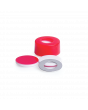 WHEATON® µL MicroLiter® 11 mm Snap Cap With Septa, PTFE / Silicone Septa, Red