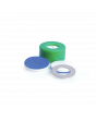 WHEATON® µL MicroLiter® 11 mm Snap Cap With Septa, Pre-Cut, PTFE / Silicone Septa, Green, Case of 100