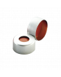 WHEATON® Lined Aluminum Seal, PTFE / Silicone / PTFE, Open Top, Natural, 11 mm