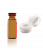 WHEATON® E-Z VIAL® With Snap Ring Convenience Packs, Amber, PTFE / Silicone, Cap Color: Natural