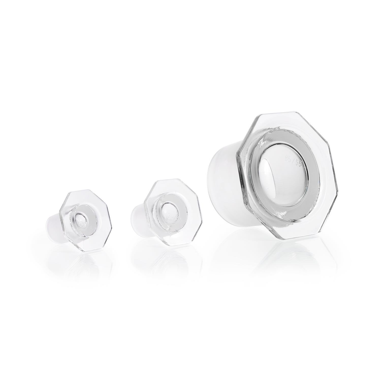 DURAN® Glass Stopper, clear, semi-hollow, ST 60/46