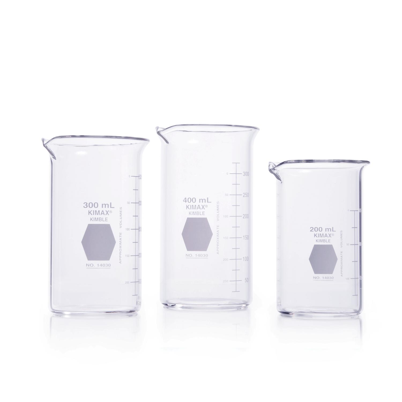 KIMBLE® KIMAX® Berzelius Beaker, tall form, with spout, 100 mL