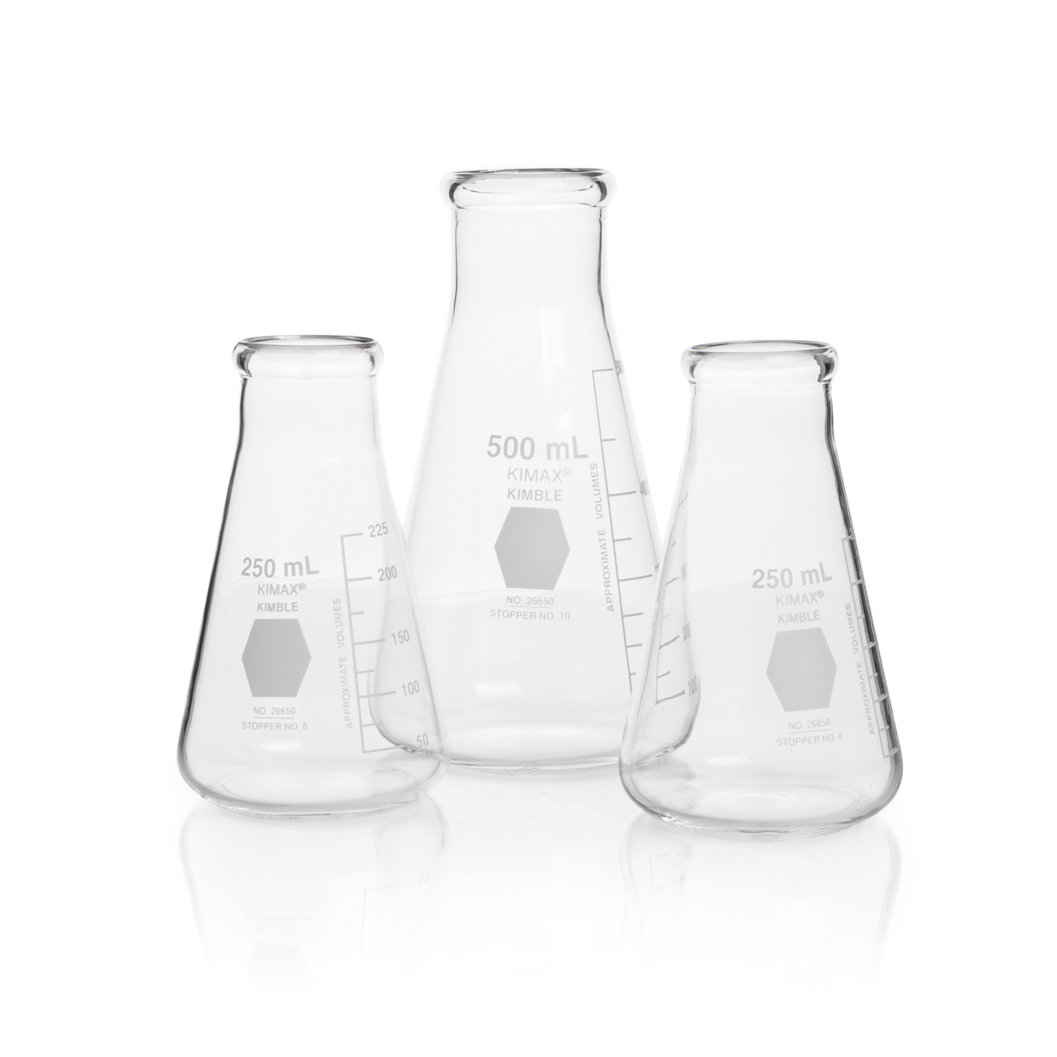 KIMBLE® KIMAX® Erlenmeyer Flask, Wide Mouth, 250 mL