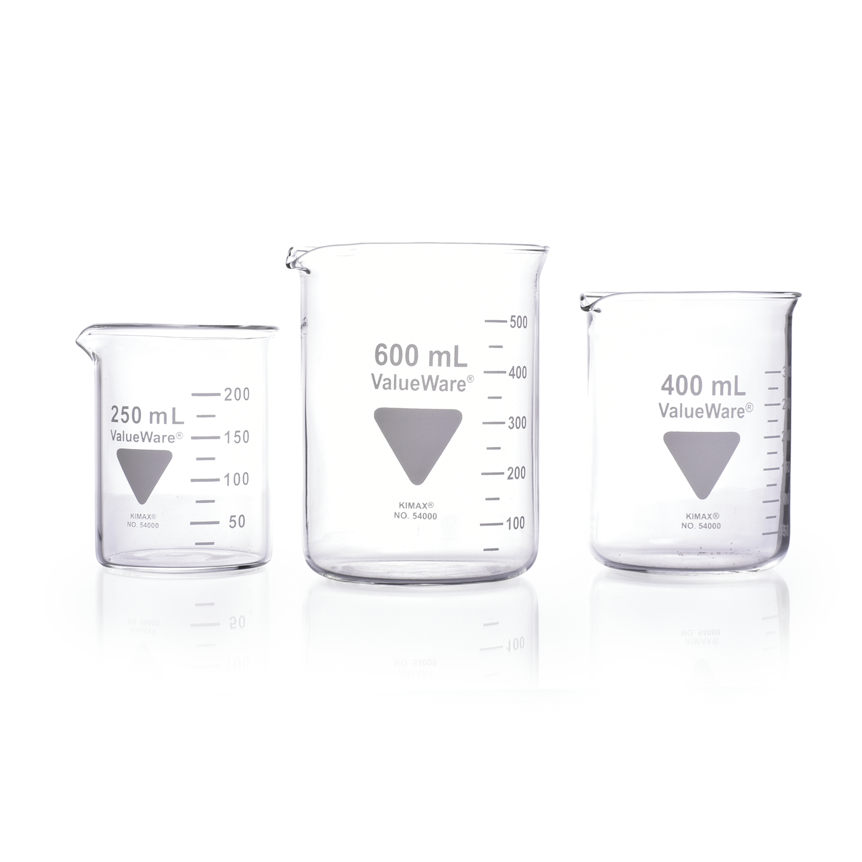 KIMBLE® ValueWare® Beaker, Low Form Griffin, 30 mL