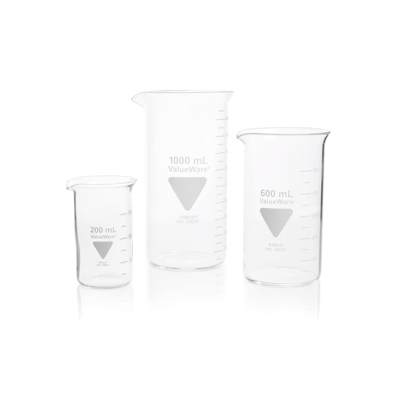 KIMBLE® ValueWare® Beaker, Tall Form, 100 mL