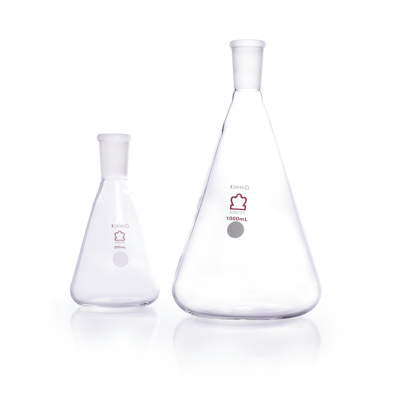 KIMBLE® KONTES® Jointed Narrow Mouth Erlenmeyer Flask, 24/40, 2000 mL