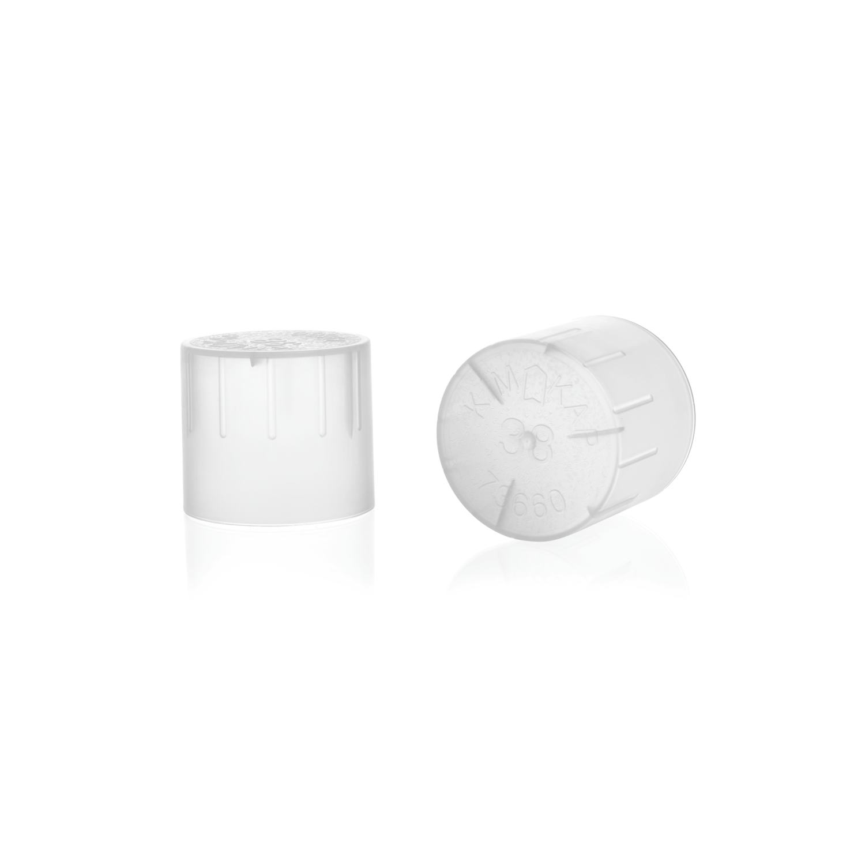 KIMBLE® KIM-KAP™ Polypropylene Cap, Natural, Fits 20 mm Tube OD
