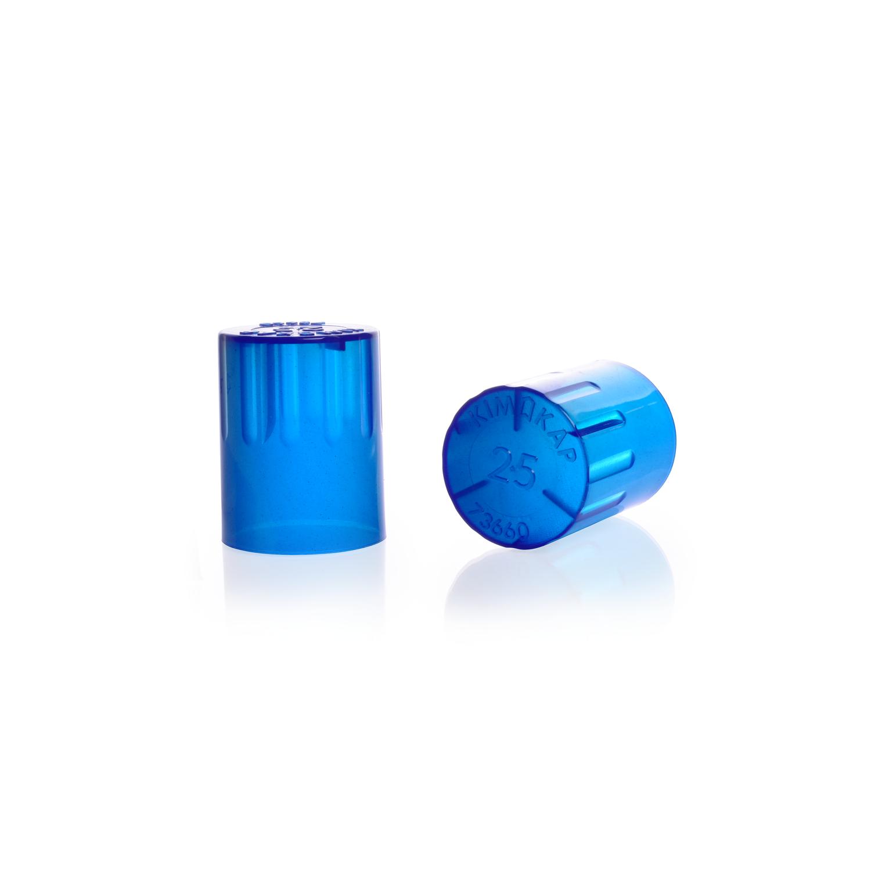 KIMBLE® KIM-KAP™ Polypropylene Cap, Blue, Fits 20 mm Tube OD