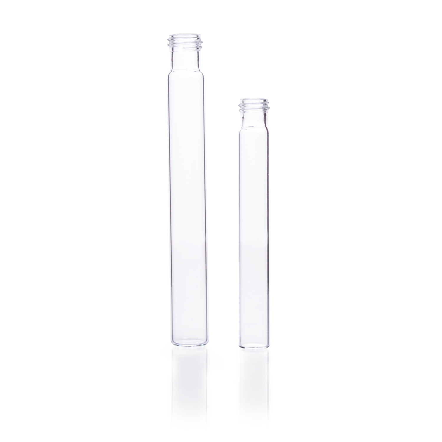 KIMBLE® Flat Bottom Disposable Screw Thread Culture Tube, 18-415, Case of 500, 20 x 113 mm