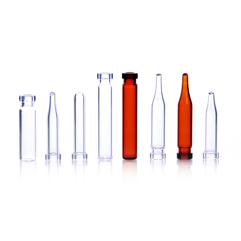 WHEATON® µL MicroLiter® 8mm Crimp Top Finish Vials, Clear, Round Bottom, 6 mm
