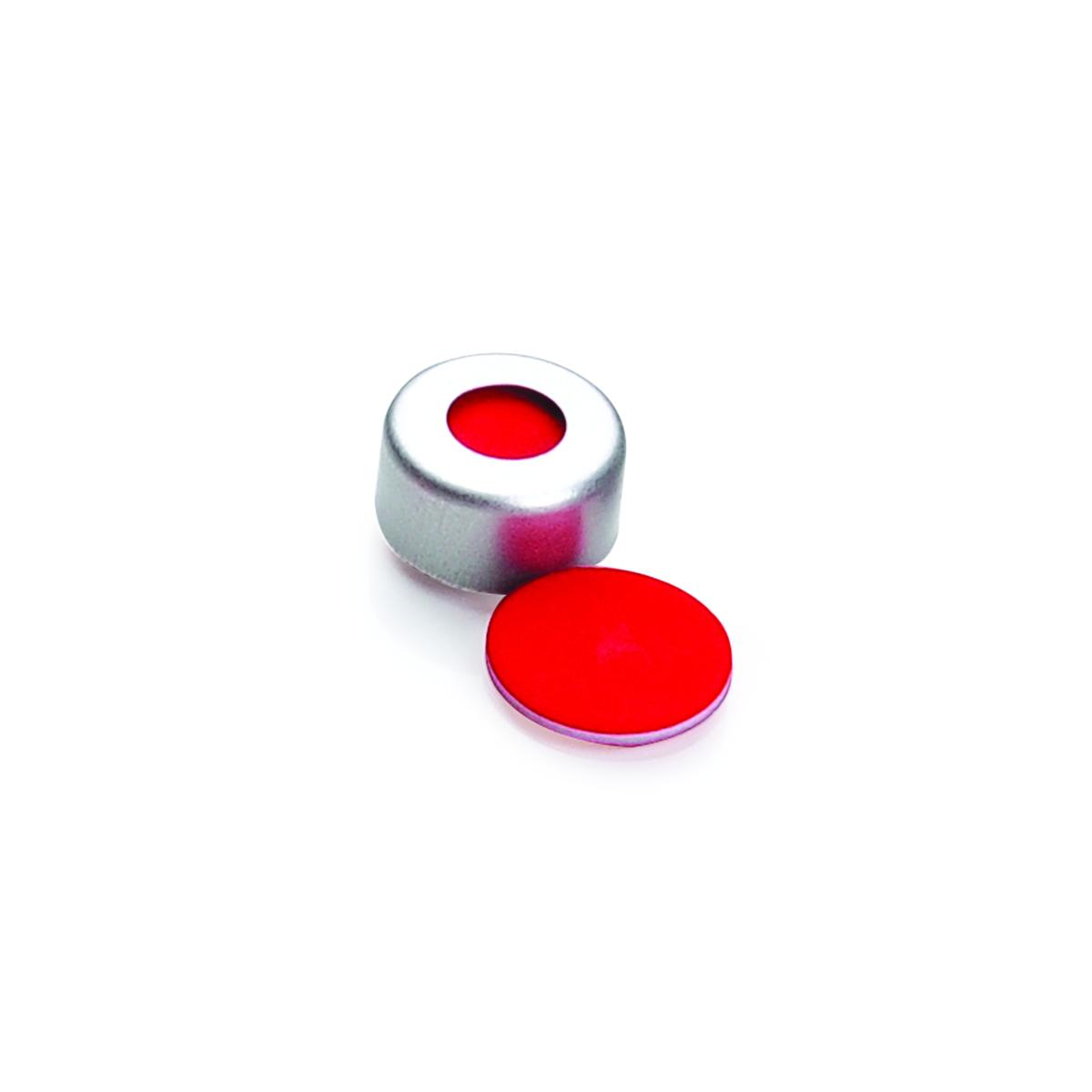 WHEATON® µL MicroLiter® 11 mm Crimp Seals With Septa, PTFE/Silicone/PTFE, Magnetic