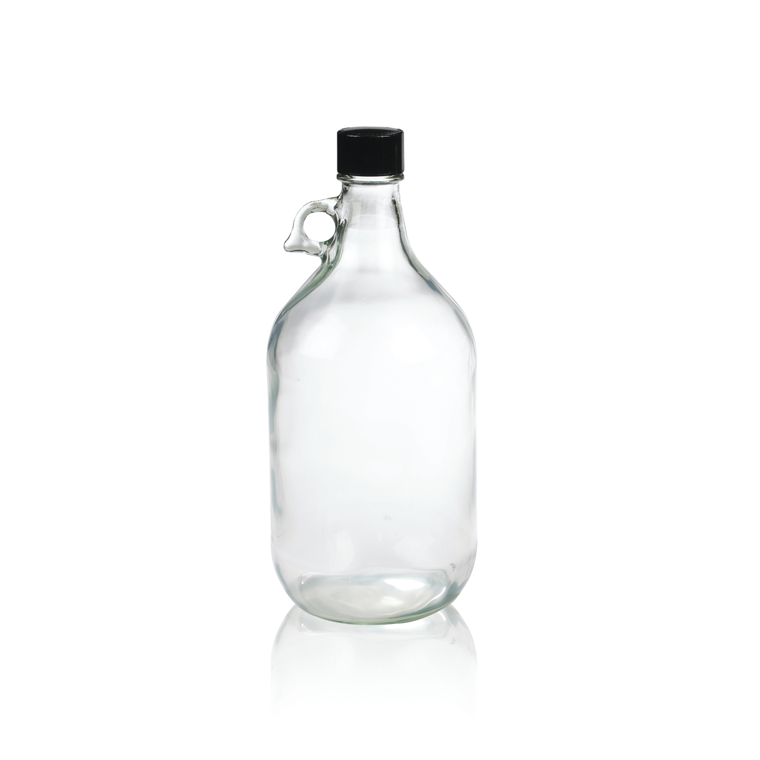 WHEATON® Safety Coated Large Bottle With Jug handle, Amber, Tinfoil Lined