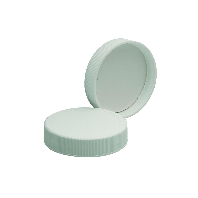 WHEATON® White Polypropylene Screw Cap, PTFE-Faced Foamed Polyethylene Liner, 53-400