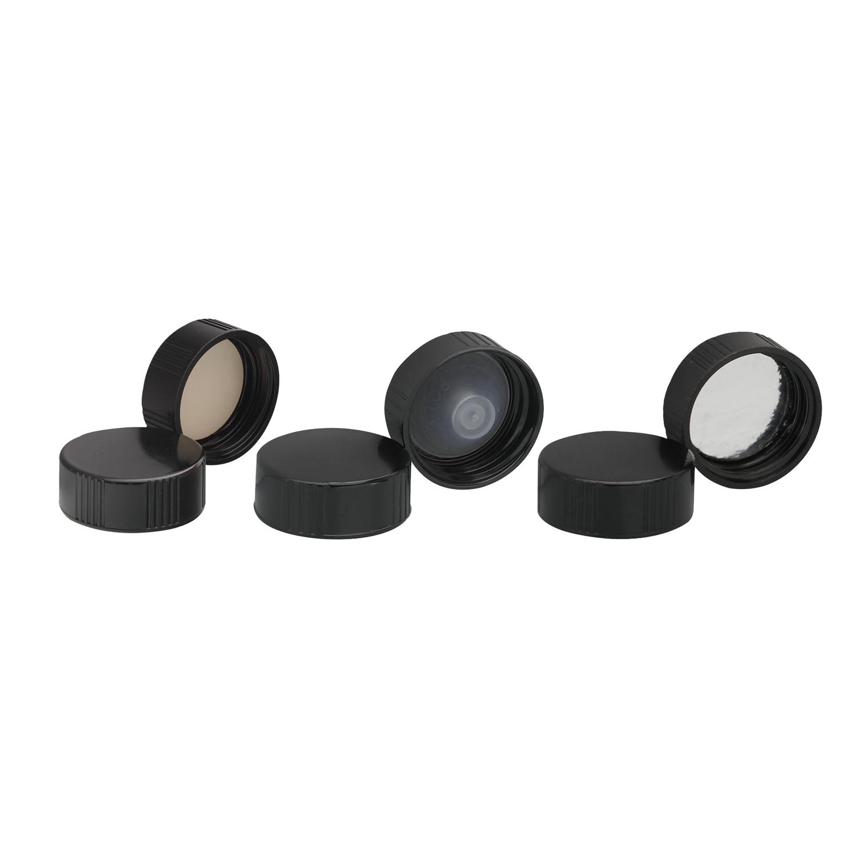 WHEATON® Black Phenolic Screw Cap, PE Cone Liner, 13-425, Case of 144