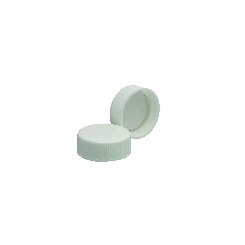 WHEATON® White Polypropylene Screw Cap, PTFE-Faced Foamed PE Liner, 33-400, Case of 144