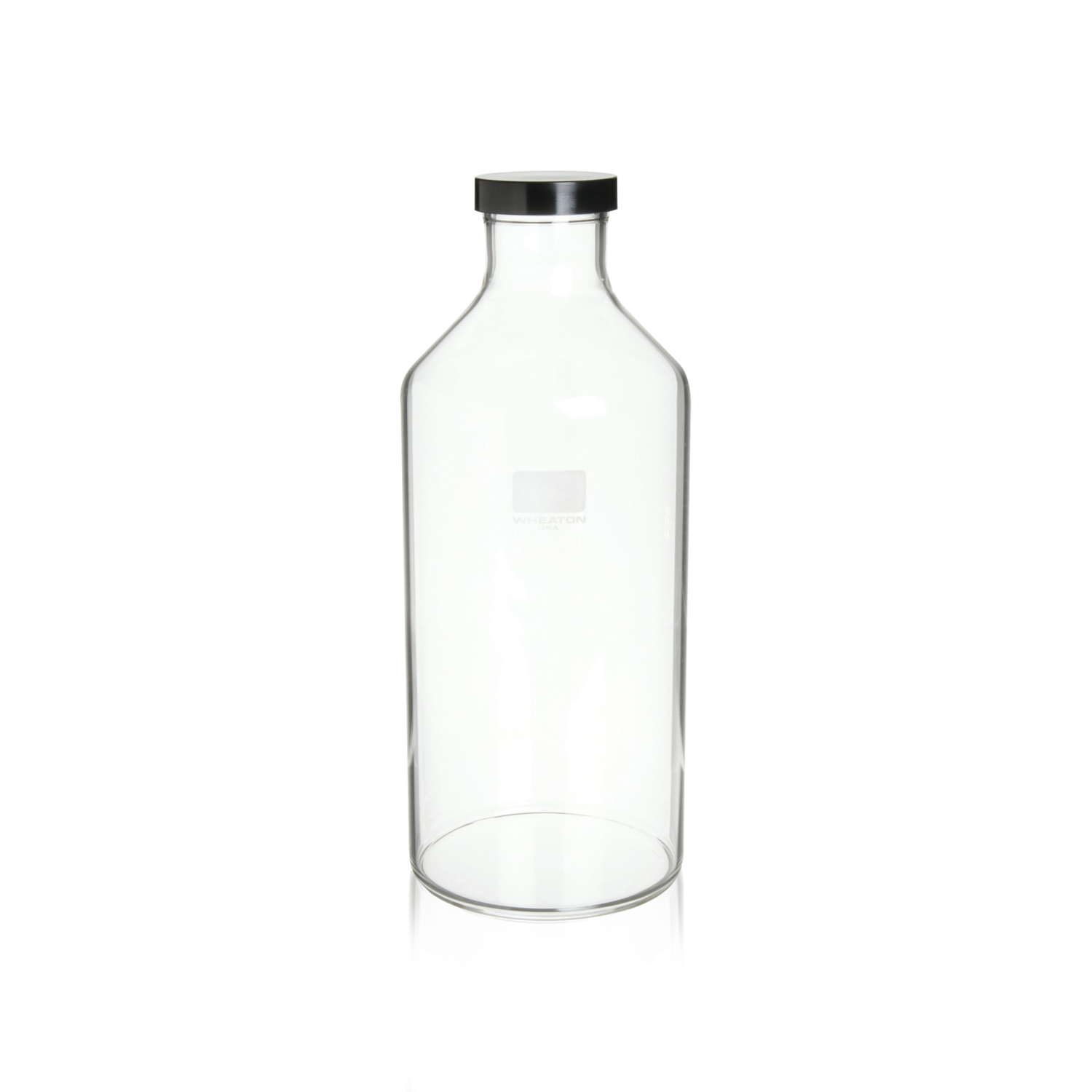 WHEATON® Roller bottle With 51mm Black Phenolic Screw Cap With Shallow Skirt and White Styrene-butadiene Rubber Liner (GPI 51-400), 4230 mL