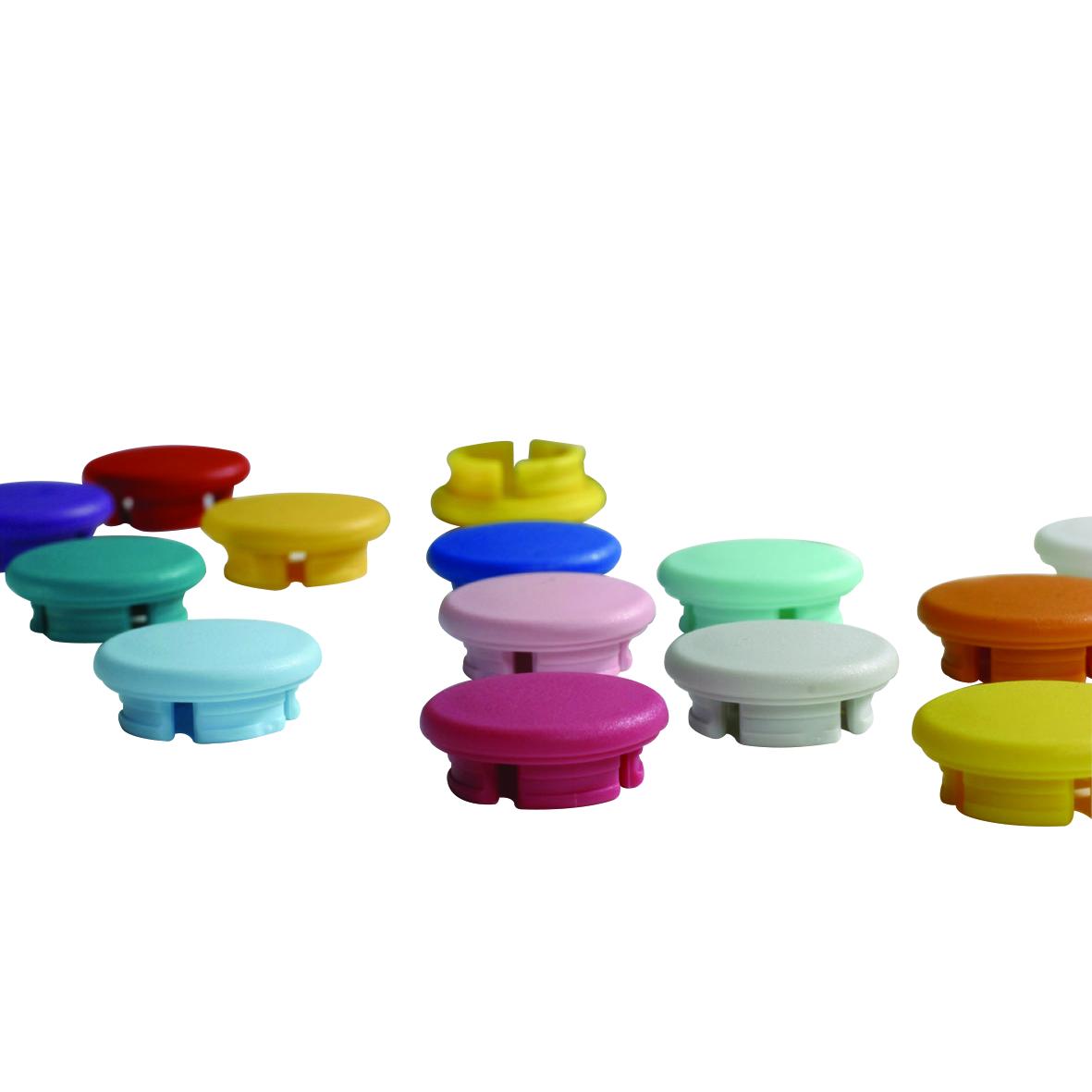 SOCOREX® ACURA® Smarties Button Caps (6 per Pack), Red