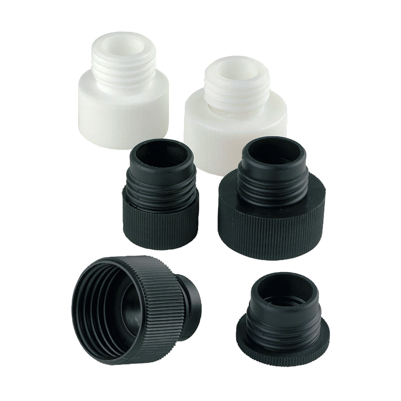 SOCOREX® CALIBREX™ Bottle-Top Adapters, Tapered, PTFE, 24/29