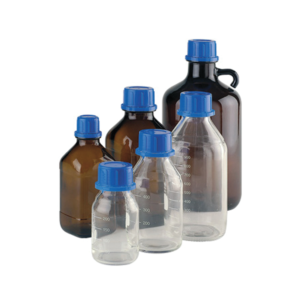 WHEATON® LAB 45™ Reagent Bottles, Clear Borosilicate Glass With Graduations, 250mL