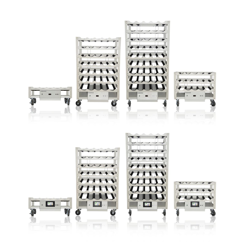 WHEATON® R2P™ 2.0 Roller Rack Apparatus, Bottom Drive Modular Spacing, 35 Bottle Positions