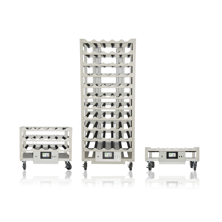 WHEATON® R2P™ 2.0 Roller Rack Apparatus, Bottom Drive Production Spacing, 52 Bottle Positions