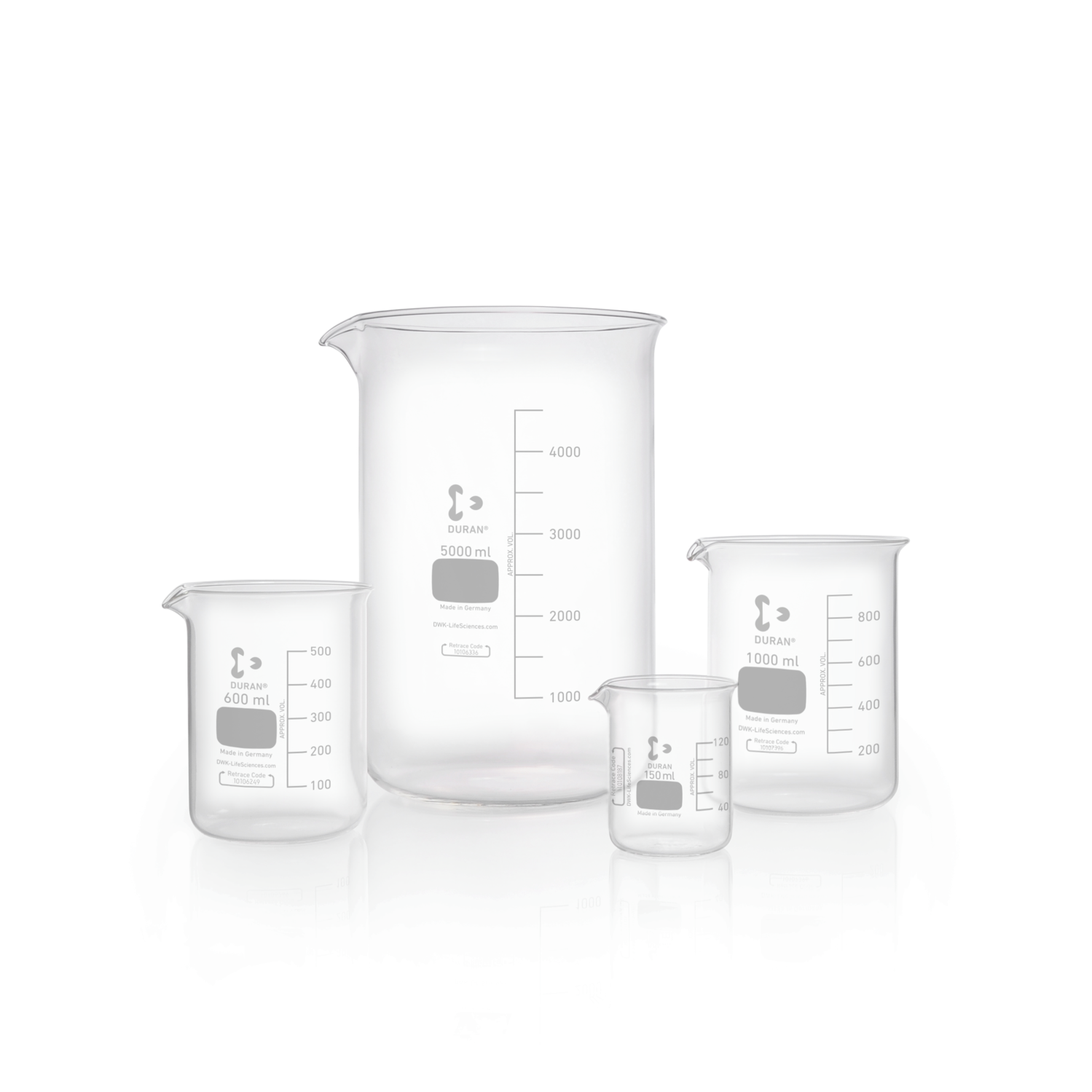 DURAN® Beaker, low form, with spout, 800 mL
