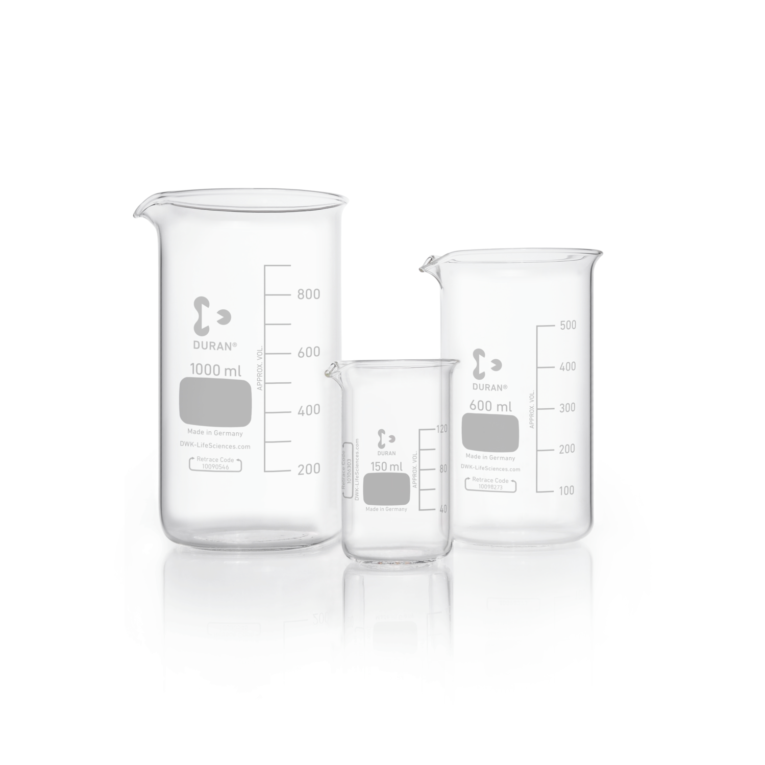 DURAN® Beaker, high form, with spout, 50 mL