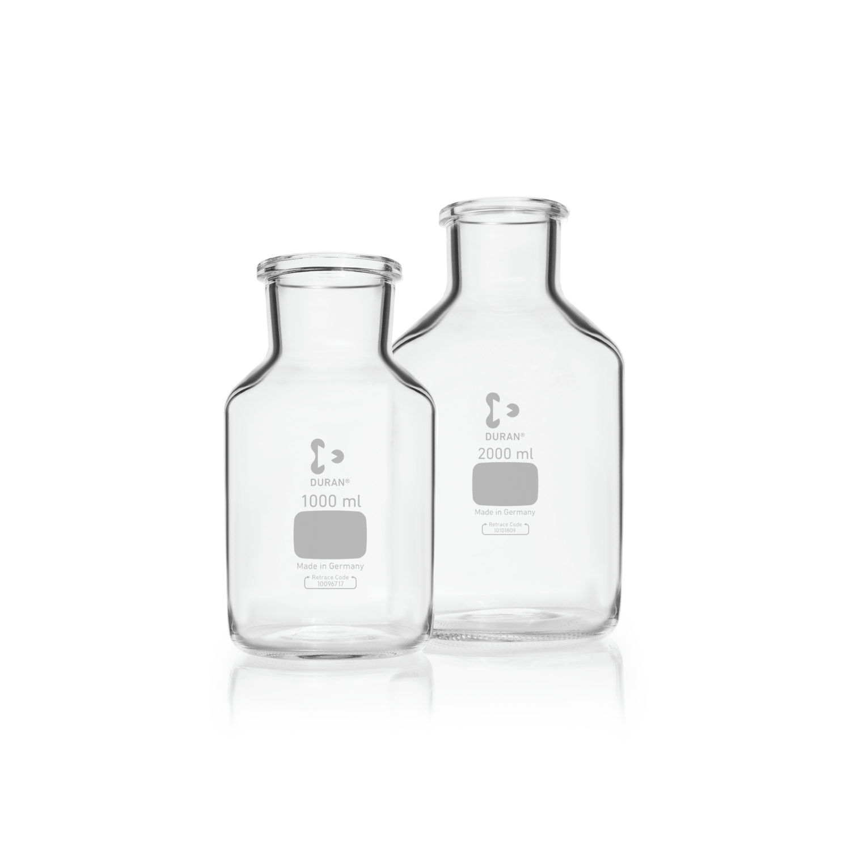 DURAN® Microbiology Bottle Unground Wide Neck, Printed, 10000 mL