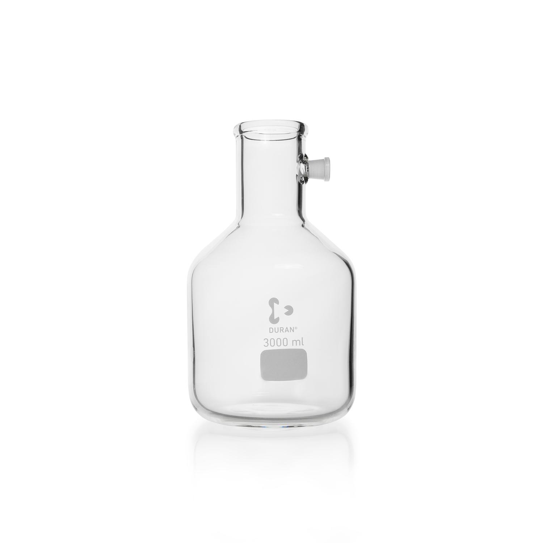 DURAN® Filtering Flask with Side-Arm Socket, Bottle shape, 10000 mL