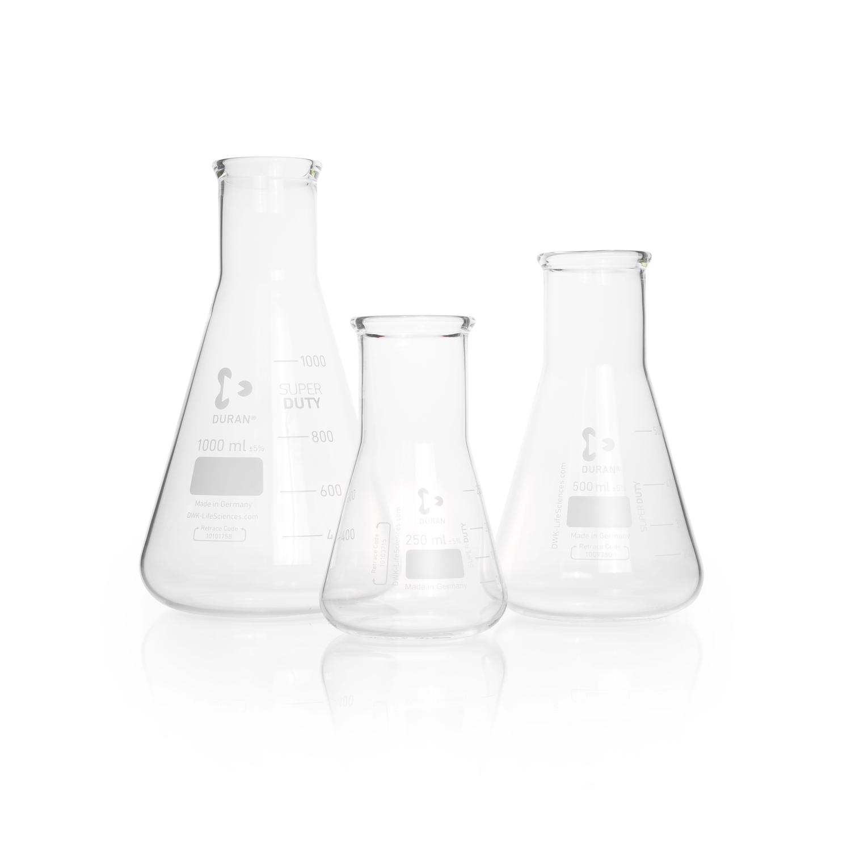 DURAN® SUPER DUTY Erlenmeyer Flask, wide neck, 100 mL