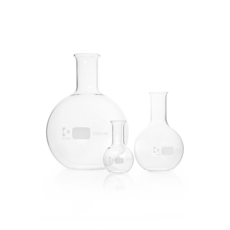 DURAN® Flat Bottom Flask, narrow neck, with beaded rim, 5000 mL