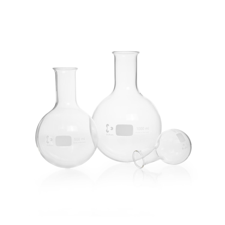 DURAN® Round Bottom Flask, narrow neck, non-DIN ISO size, 2000 mL