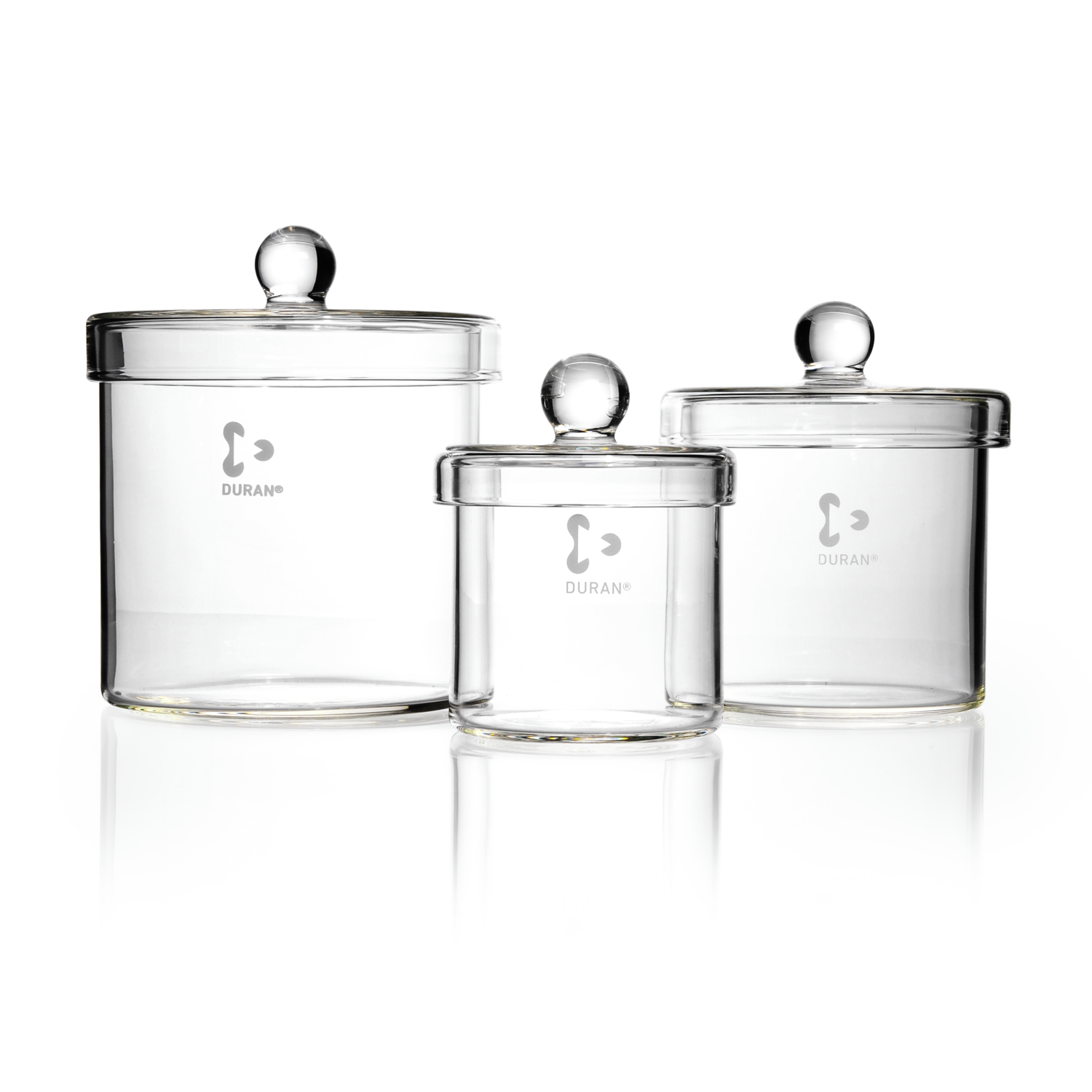 DURAN® Cylinder, with knobbed lid, Ø 260 x 260 mm