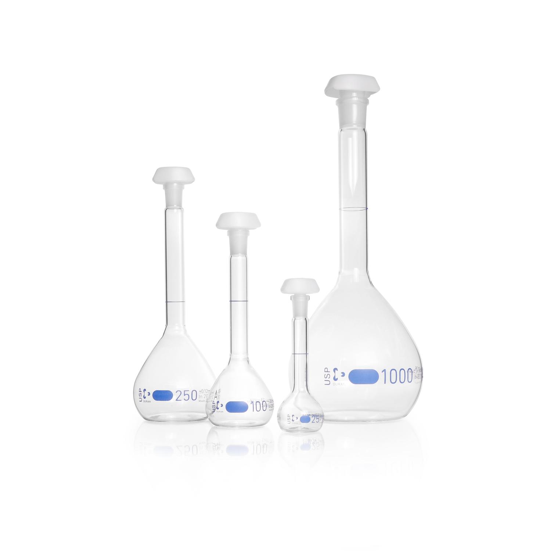DURAN® Volumetric Flask, Class A, USP conformity <31>, USP individual certificate, 10 mL