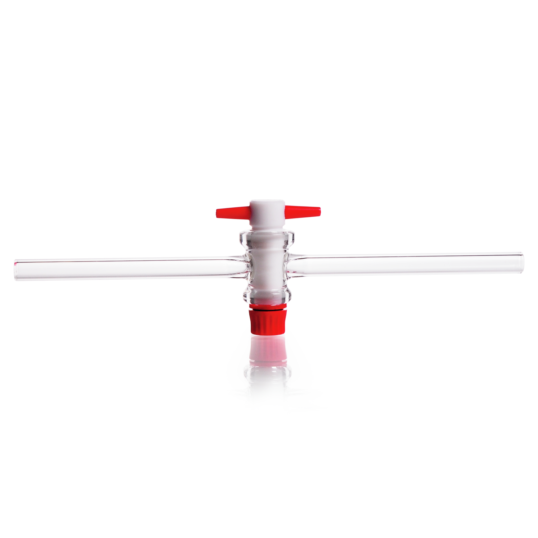 DURAN® Single-way Stopcock, with PTFE key, bore 8 mm, NS 24