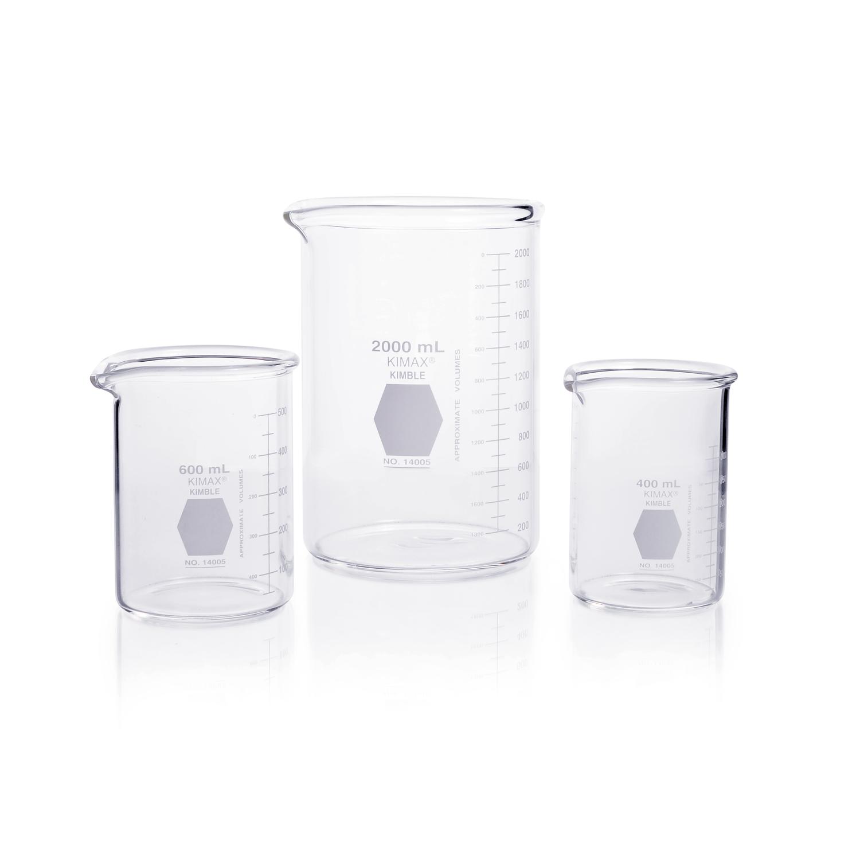 KIMBLE® KIMAX® Heavy Duty Beaker, low form, 4000 mL