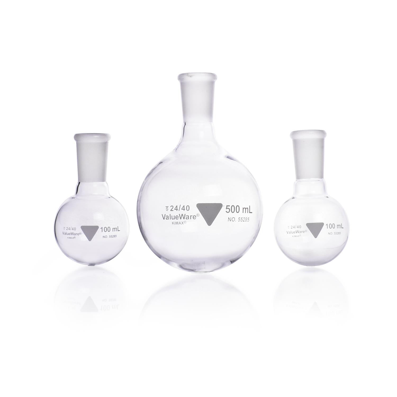 KIMBLE® ValueWare® Round Bottom Flasks, 500 mL
