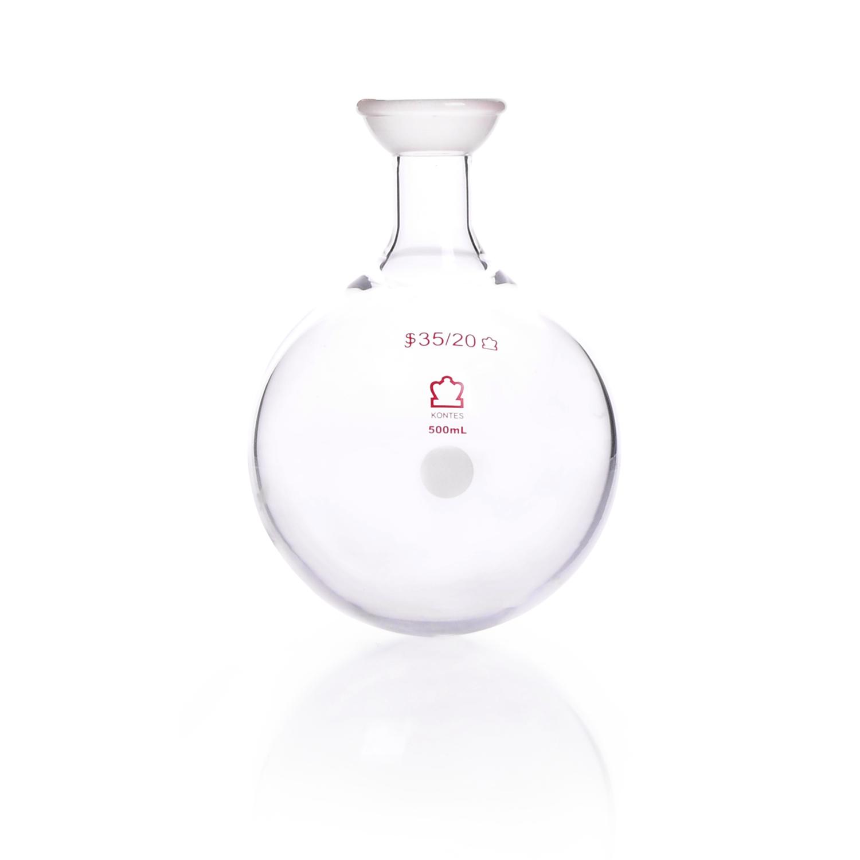 KIMBLE® Heavy Wall Round Bottom Flask, 28/15, 500 mL