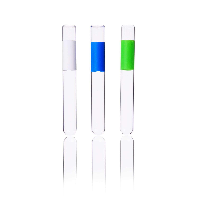 KIMBLE® Borosilicate Glass Tube, Green, 10 x 75 mm, 3 mL