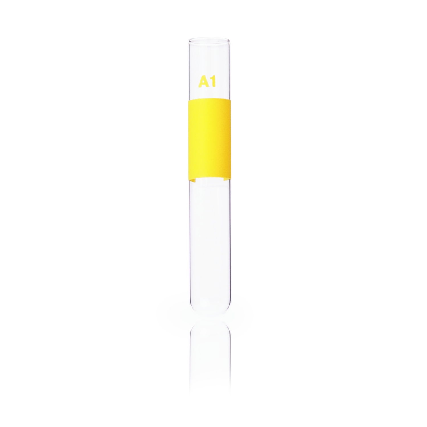 KIMBLE® MARK-M® A1 Yellow Color-Coded Tubes, 10x 75 mm, 3 mL