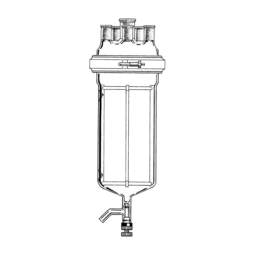 KIMBLE® KONTES® 5L Unjacketed Reaction Flask Assembly