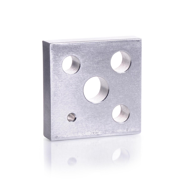 KIMBLE® Aluminum Heating Block, For Standard Taper size 14/10 Kits (Solid Bottom)