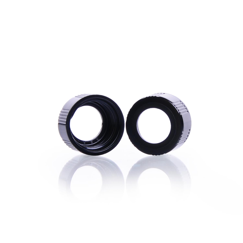 KIMBLE® Open-Top Black Phenolic Screw Thread Caps, 24-400