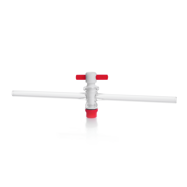 KIMBLE® Straight-Bore Stopcock, with PTFE Plug, bore size 4 mm