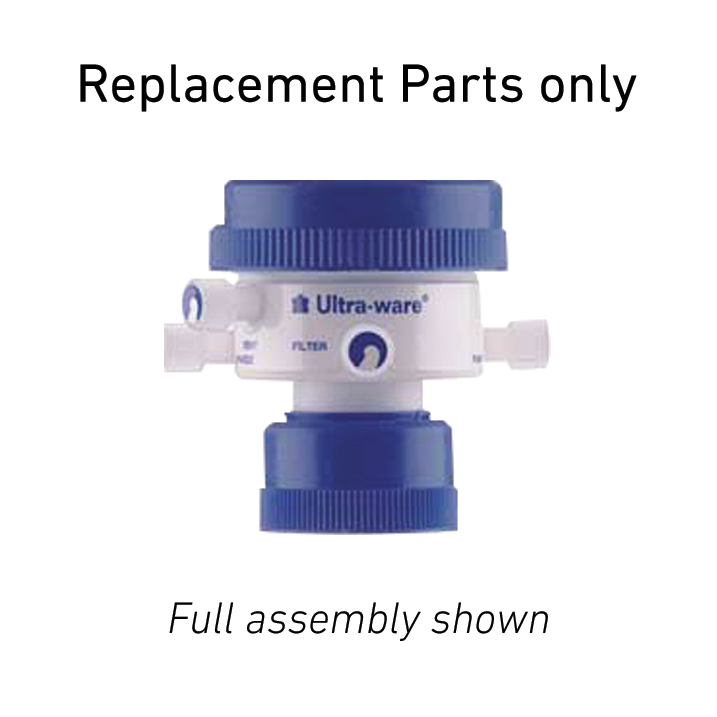 KIMBLE® ULTRA-WARE® Four Valve Filtration and Delivery Cap Replacement Part, Short Stainless Steel Valve Stem For Sparge and Pump Ports For THF Resistant