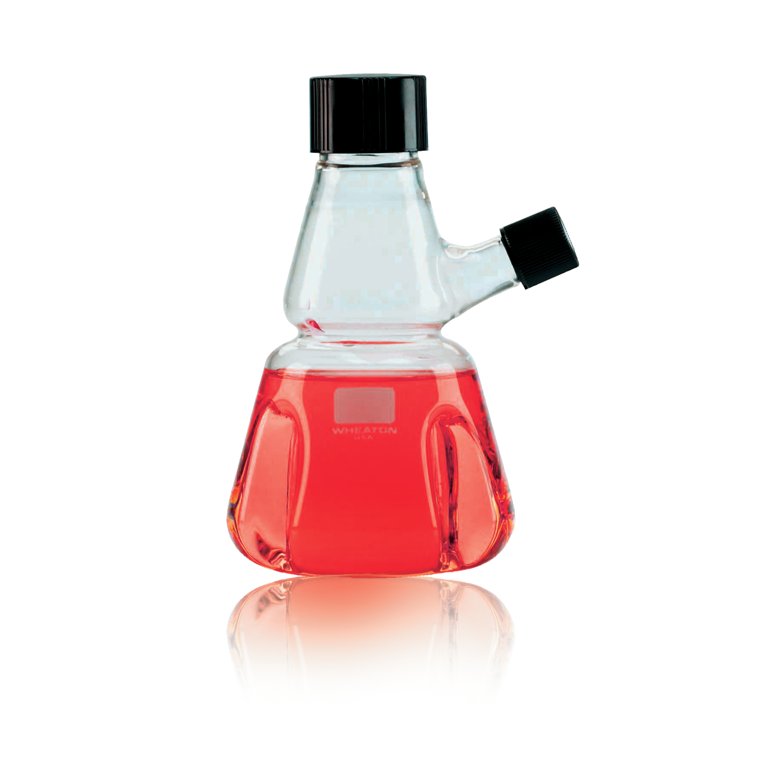 WHEATON® Trypsinizing Flask With Pourout, 500 mL