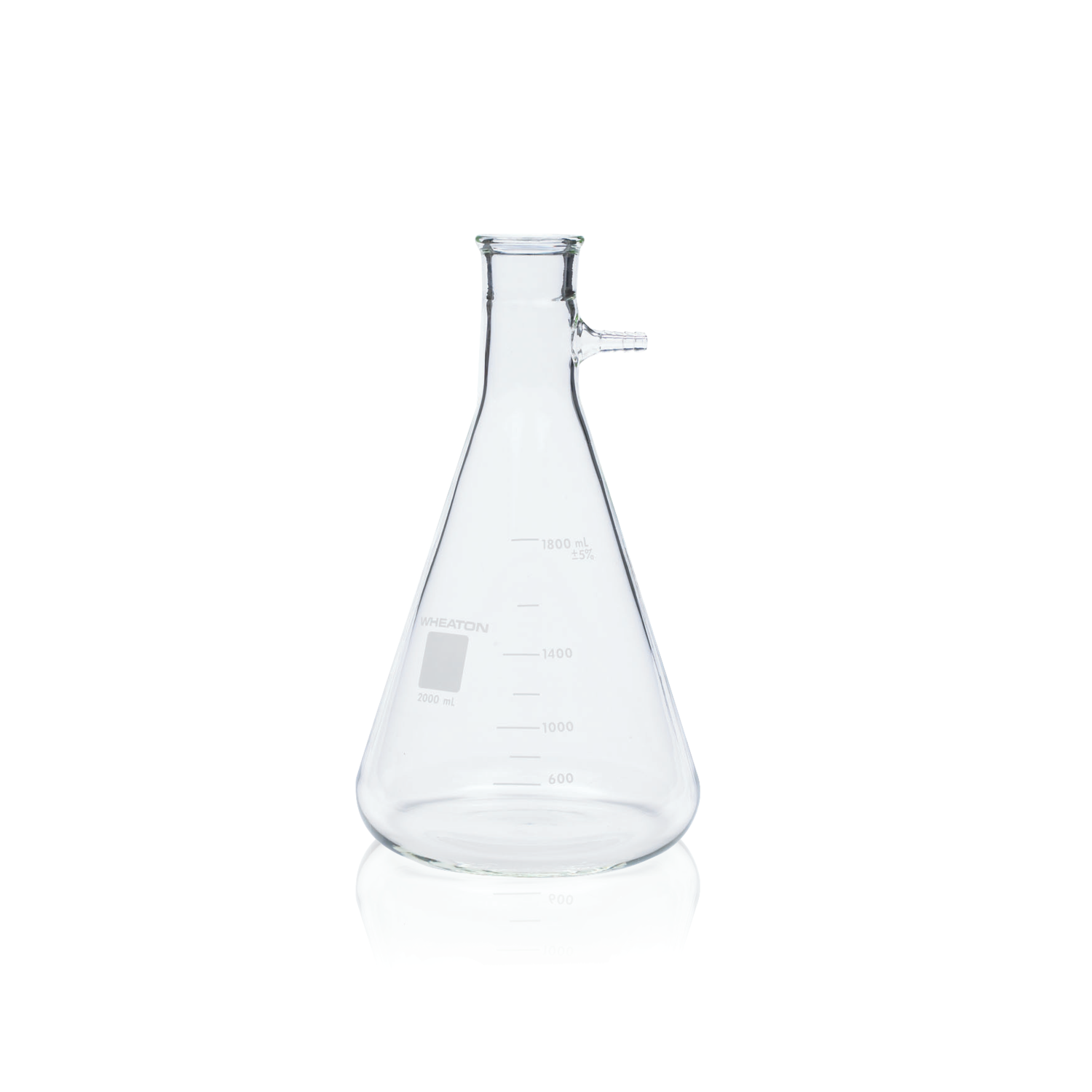 WHEATON® Filter Flask, Graduated, No. 8 Stopper Joint, 1000 mL