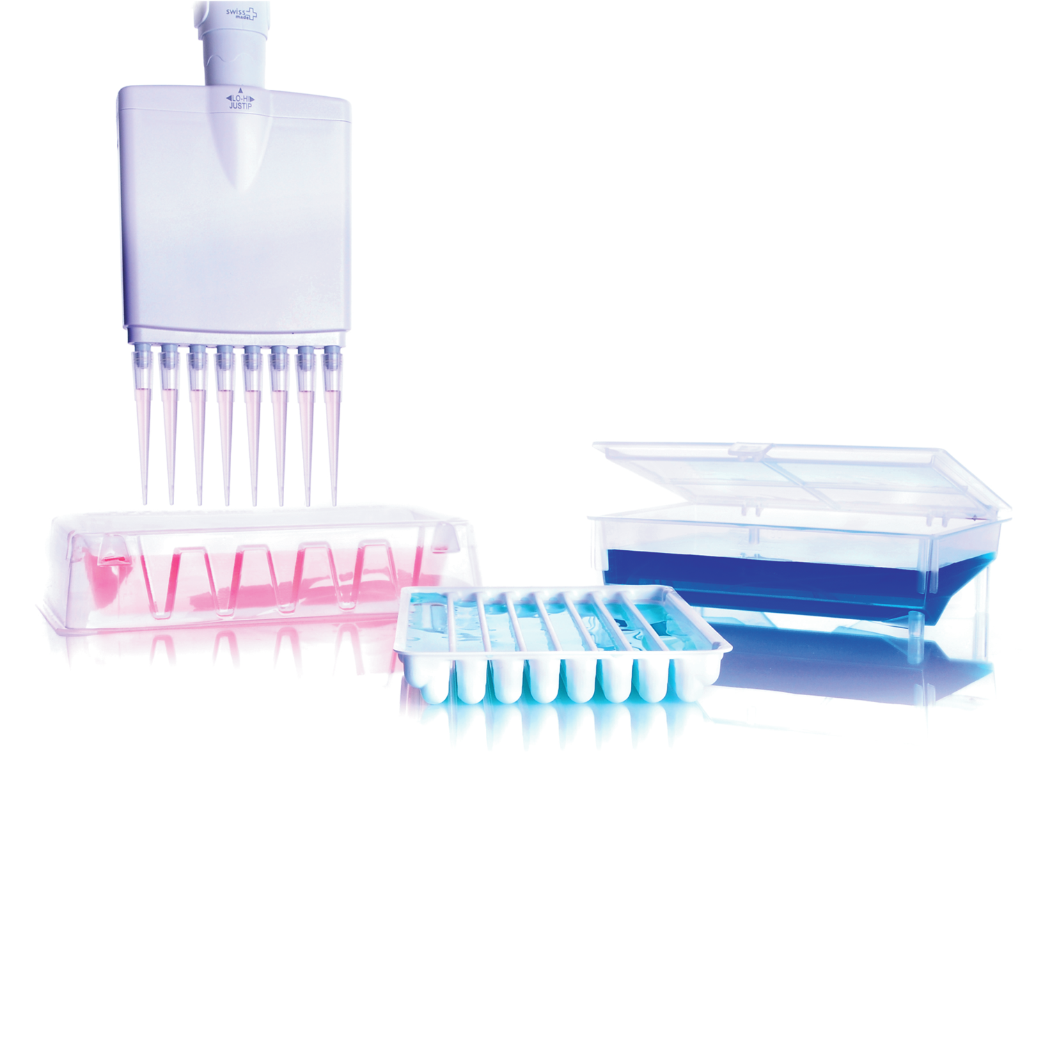 SOCOREX® All Purpose Reagent Reservoirs, PS, Sterile 12-Channel Reservoirs