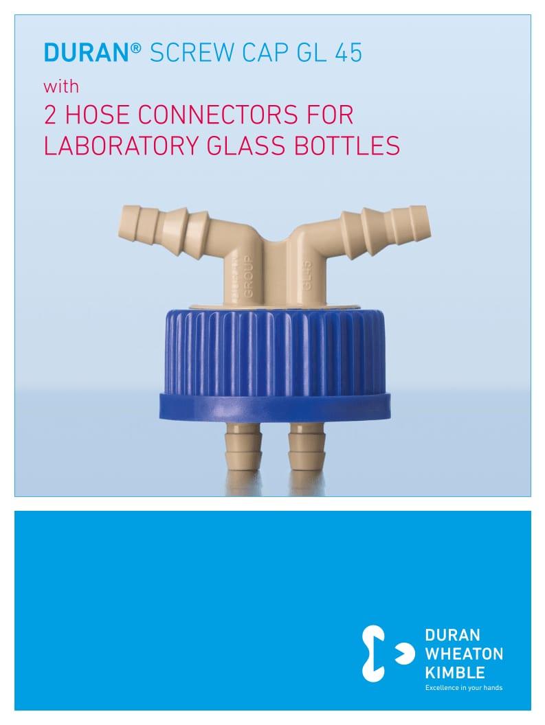 DURAN® GL45 Screw Cap 2 Hose Connectors Flyer EN